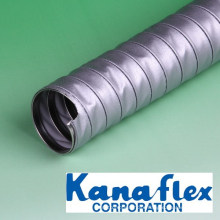 Flexible heat resistant duct hose. Manufactured by Kanaflex. Made in Japan (galvanized metal flexible hose)