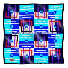 Próprio projeto personalizado lenço de seda de impressão lenço personalizado