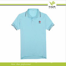 High Quality CVC Light Blue Election New Polo T Shirt for Men (F139)