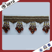 Perles bordure en bonnet coupe de rideau de haute qualité