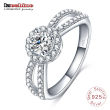 925 Sterling Silber Solitaire indischer Ehering (SRI0005-B)