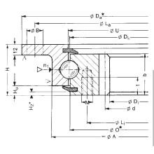 Rothe Erde engrenagem interna Rolamentos de anel de giro flangeados (232.20.1000.013)