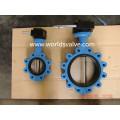 GGG40 Lug Type Gewindeschraubenende Absperrklappe mit CE ISO Wras-Zertifikate