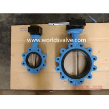 Válvula de mariposa del extremo de tornillo roscado tipo Lug Ggg40 con certificados de CE ISO Wras