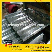 1100 3003 5052 feuille de toiture en alliage d'aluminium isolée