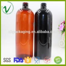Оптовый экологически чистый многоразового бостона круглый 1000 мл пластиковая химическая бутылка с винтовой крышкой