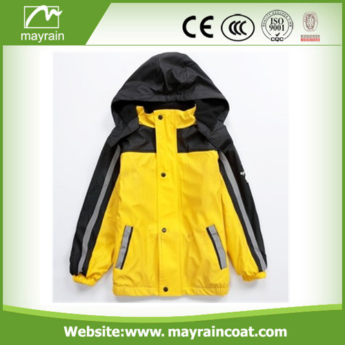 Bright Yellow Color PU Rainwears
