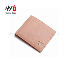 Customized wholesale recycled woman genuine leather wallet
