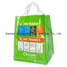 Full Color Cmyk Priniting 100% Cobertura Woven PP reciclagem saco