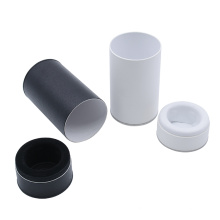 Black White Red Small Paper Tube Packaging Elegant Gift Round Paper Box With Lid