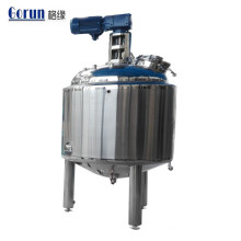Tanque de mezcla de líquidos bien agitado para productos farmacéuticos