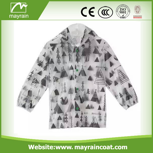 PVC Raincoat with Pink Dots