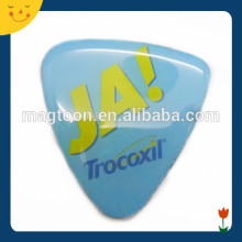 Triangle shape epoxy logo fridge magnets