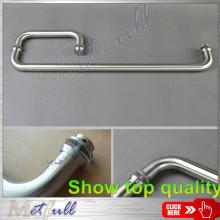 L-shaped Bathroom Glass Door Stainless Steel Pull Handle