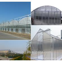 feuille de matériau en polycarbonate PC serres commerciales utilisées / serre de jardin