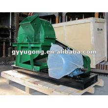 Máquina de trituración de madera de rotación lisa Yugong con motor de 15kw