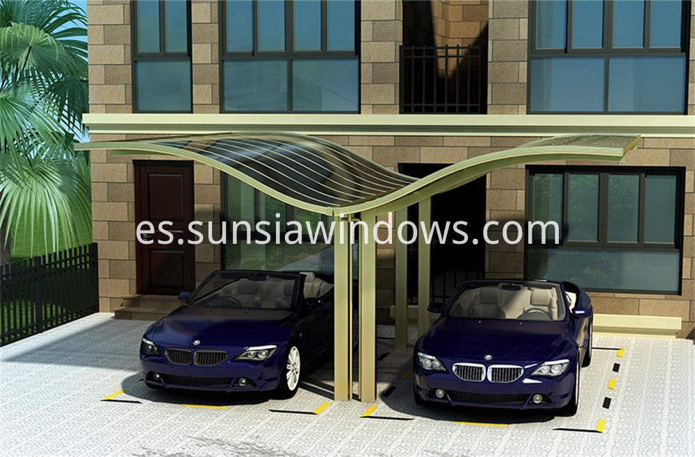 European Style Aluminum Car Shed