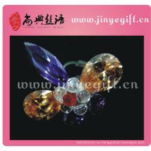 Красочные Гуанчжоу Побрякушки Блестящие Кристалл Заявление Кольцо