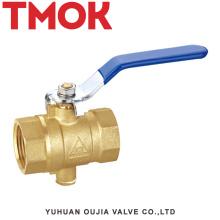 brass color good quality long handle sand blasting temperature brass ball vavle