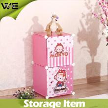 Boîte pliante multifonctionnelle en plastique rose de chambre à coucher d'enfants de jouet