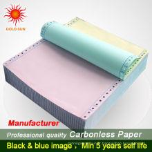 5-plis 2-pièces format A4 NCR Continuous Forms NCR papier blanc