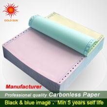 5-ply 2-Parts A4 Tamanho NCR Contínuo Formulários NCR Paper Blank Paper
