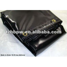 Nuevo 8x10 para la venta Black Heavy Duty Waterproof Vinyl Tarp