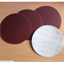 Papier rond de ponçage rond de disque de ponçage d'oxyde d'aluminium