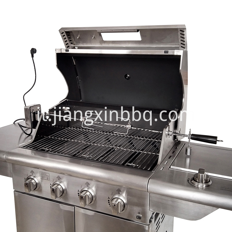 Gas grill rotisserie kit Deluxe