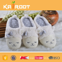 OEM service suede discount plush animal slippers for women