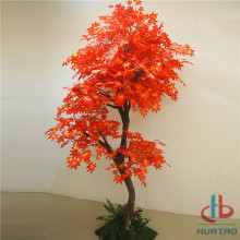 Tyg Material Blad Artificiell Maple Tree