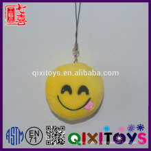 Créatif personnalisé porte-clés emoji logo personnalisé expression sourire porte-clés mini peluche en peluche jouets décoration