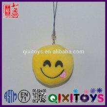 Criativo chaveiro personalizado emoji logotipo personalizado expressão sorriso chaveiro mini recheado de brinquedos de pelúcia decoração