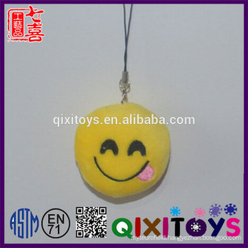 Creative custom keychain emoji custom logo expression smile keychain mini stuffed plush toys decoration