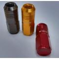 50mm long aluminium lug nuts in colors