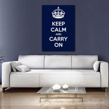 Mantenha a calma e continue azul escuro