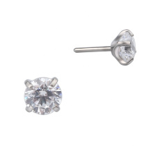 Wholesales Basic Style ASTM F-136 Prong CZ Titanium Threadless Top Body Jewelry Accessory