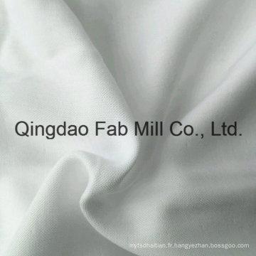 Plusieurs couches blanchissants en bambou blanc / tissu de coton organique (QF16-2696)