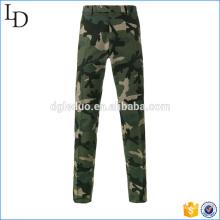 Hohe Taille Chinos Camouflage Hose Militär blau lose Hosen für Männer