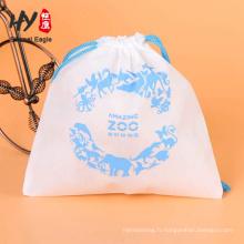 80gsm eco pliable sac à cordon non tissé