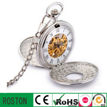 Zinc Alloy Pocket Keychain Watch with Japan Movement