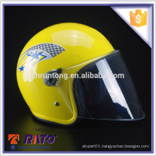 Professional design stylish yellow full-face motorcycle helmet