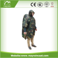 Adult Breathable Polyester Rain poncho with Hood