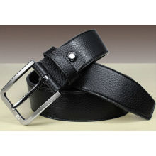 Black genuine leather belt mens fashion belt