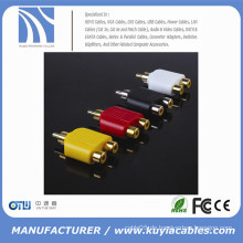 RCA Stecker auf 2RCA Buchse Adapter Stecker Y-Splitter Stecker Extender Konverter