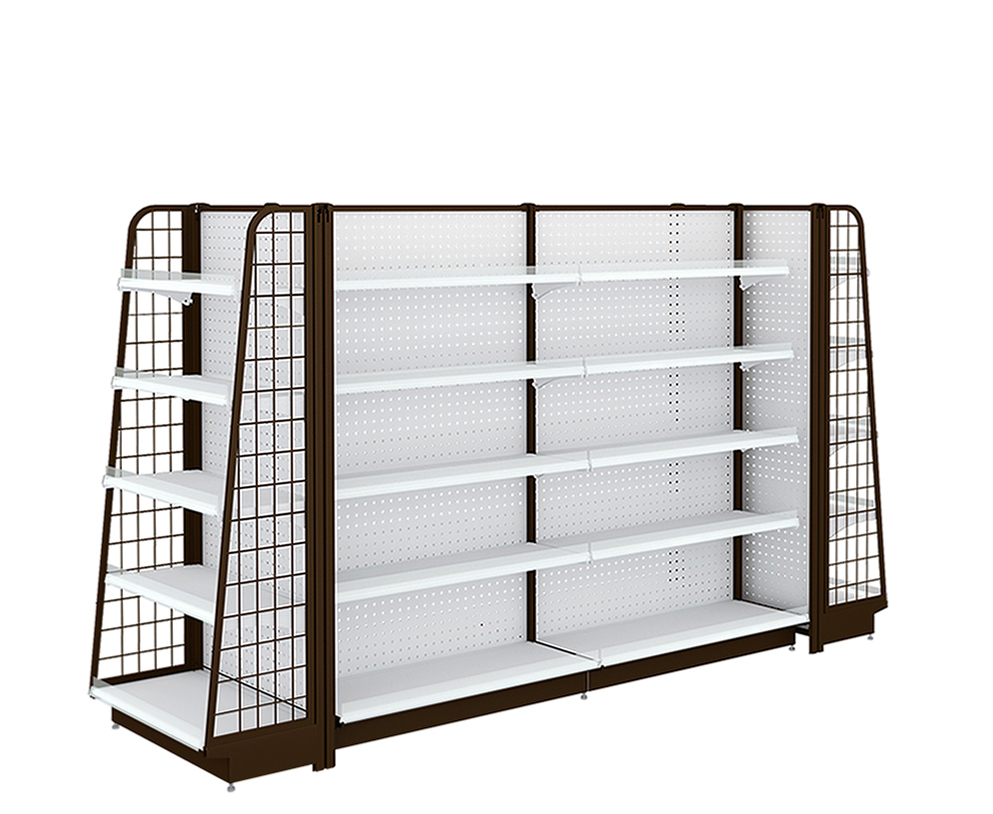 Ladder Gondola Shelving For Supermarket