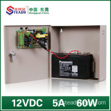 60W Access Control Power supply dengan Backup (12V5A)