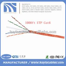 Orange 1000FT/305m Cat6 Lan Cable in Rolls