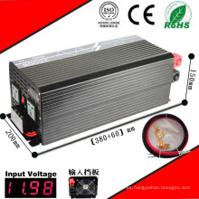 Inversor de energía de onda sinusoidal pura de CC / CA, inversor solar de casa DC12V / 24V / 48V a AC110V / 220V