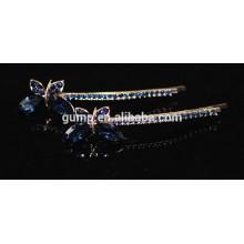 2015 Forma de la mariposa forma Rhinestone Barrette Crystal Bobby pin